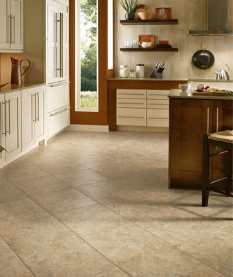 Luxury Vinyl Tile is easy to clean, and more protected against drops and spills.